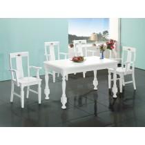 亞諾4.6尺白色餐桌(1桌4椅)