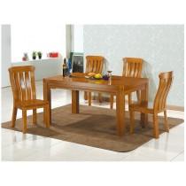威爾森5尺柚木色實木餐桌(不含椅)
