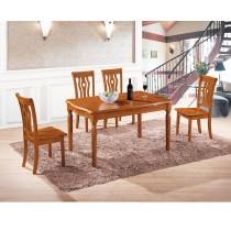 奧斯卡4.5尺實木餐桌椅組(1桌4椅)