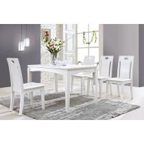 喬治亞4.3尺白色餐桌(不含椅)