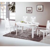 羅莎琳4.6尺白色實木餐桌(不含椅)