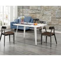 凱莎白色4尺餐桌(不含椅)(共兩色)