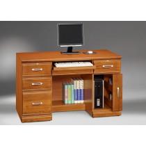 希爾達樟木色實木4.2尺電腦桌(下座)