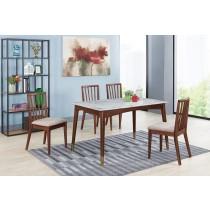 曼奇尼4.3尺石面餐桌(1桌4椅)