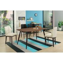 古巴克5尺餐桌(1桌4椅)(餐椅共兩色)