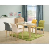 坦菲橡木色4尺石面餐桌(不含椅)