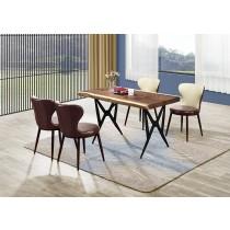 隆格4.35尺實木餐桌(1桌4椅)
