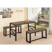 艾陶4尺木面餐桌(1桌2椅)