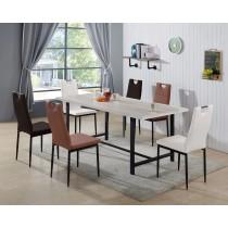 蕾吉娜6尺餐桌(1桌4椅)(椅共三色)