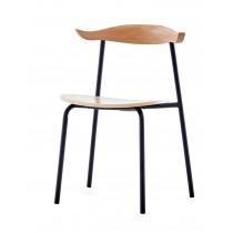 657餐椅 (原木色,胡桃色)(單只)