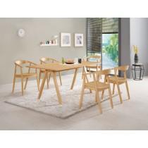 丹肯5.6尺餐桌(1桌4椅)