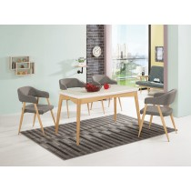克林愛爾4.5尺原石餐桌(不含椅)