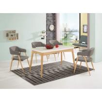 克林愛爾4.5尺原石餐桌(1桌4椅)