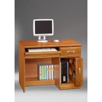 希爾達樟木色實木3.2尺電腦桌(下座)