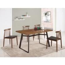 提姆4.3尺餐桌(1桌4椅)安迪皮餐椅
