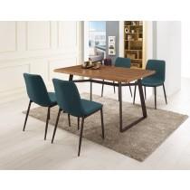 提姆4.3尺餐桌(1桌4椅)艾諾克布餐椅
