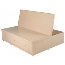 6尺置物功能床底(白橡色)