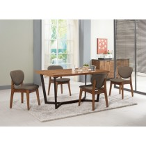 依丹4.6尺餐桌(1桌4椅)格林頓布餐椅
