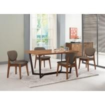 依丹4.3尺餐桌(1桌4椅)格林頓布餐椅