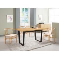 喬安娜4.6尺餐桌(1桌4椅)戴爾餐椅(拉繩)