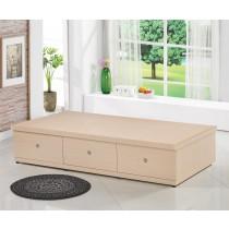 3.5尺白橡色多功能收納床底(掀床+抽屜)