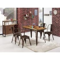 傑克4尺商業桌(1桌4椅)