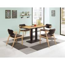 丹尼4尺商業桌(1桌4椅)