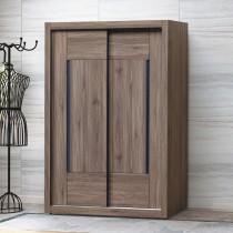 鋼刷灰橡木5X7尺衣櫃(153)(另有白梣木色)