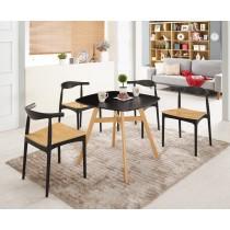 溫蒂2.6尺黑色休閒桌(不含椅)