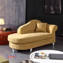 卡爾奧黃色貴妃椅(共兩方向)
