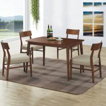 法蘭克胡桃色4尺餐桌椅組(1桌4椅)