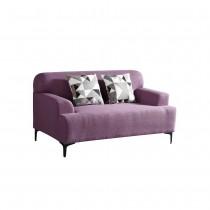 克里森紫色雙人布沙發