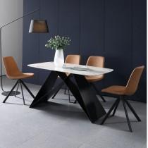 喬伊4.6尺石面餐桌(1桌4椅)