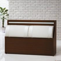 黑和風6尺床頭箱
