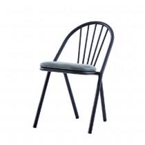 派屈克鐵製皮餐椅/休閒椅