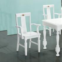 亞諾白色餐椅(不含餐桌)4入