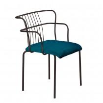 華格納綠絨布餐椅/休閒椅