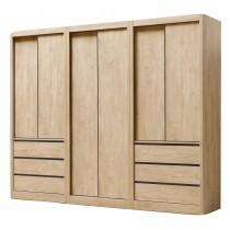 凱達原木色8尺衣櫥/衣櫃(全組)