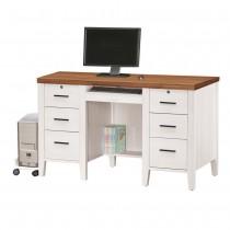 詩肯雙色4.2尺電腦桌(下座)含主機架