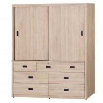 565型北原橡木色5X7尺衣櫥/衣櫃