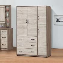 艾妮雅雙色4.3 X 7尺衣櫥
