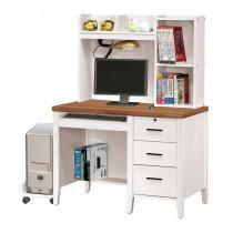 詩肯雙色3.5尺電腦桌(全組)含主機架