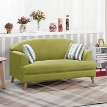 荷琦二人座綠色貓抓皮沙發