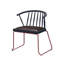 C1659型鐵製皮面休閒椅/餐椅