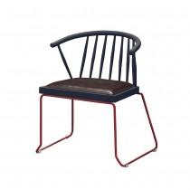 C1659型鐵製皮面休閒椅/餐椅(4入)