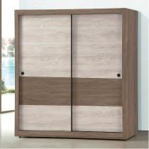艾妮雅雙色6 X 7尺推門衣櫥