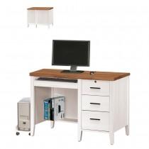 詩肯雙色3.5尺電腦桌(下座)含主機架