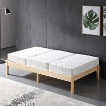 日式松木實木3.5尺床架(含床墊)