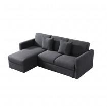 威爾斯L型功能布沙發床(含輔助椅)