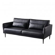 緹諾黑色三人皮沙發